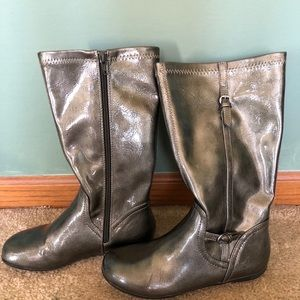 Pretty Girl's Metallic Patent Boots by Nordstrom